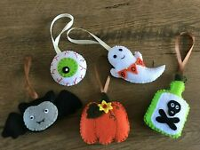 Handmade felt Halloween decorations Hanging Pumpkin Bat Ornament