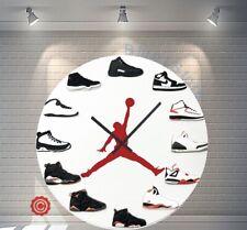 "Premium 12"" Clock Air Jordan 1-12 OG ALT 2D QUARTZ nike supreme off white yeezy"