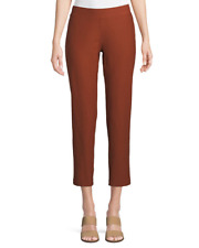 BNWT $178 Eileen Fisher Deep Pekoe Washable Stretch Crepe Slim Ankle Pant 2X 3X