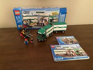 LEGO 7733 City Cargo Truck & Forklift Complete with Box And Instructions!!