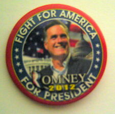 Mitt ROMNEY for President 2012 Fight for America Political Campaign PIN  2 1/4""