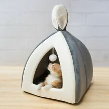 Pet Cat Bed Indoor Kitten House Warm Small Cats Dogs Nest Collapsible Cute Sleep