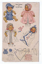 """632 Vintage Chubby Baby Doll Pattern - Size 20"""" -- Year 1949"""