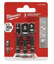 MILWAUKEE: 48-32-5033: Shockwave Socket Adapter Set: 3 Piece