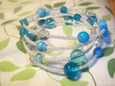 Memory Wire Wrap BRACELET - BEACH - Gypsy - GOTH  Made By Quality Jewelry M-102