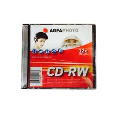 10 Stück AgfaPhoto CD-RW Rohlinge 700 MB 80 Minuten max. 12x Speed im Slimcase