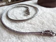 Handarbeit Geflochten Dick Silberkette Drache 56,5 cm Silber Ø 4 mm Kordelkette