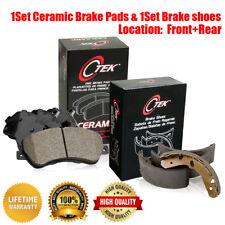 Front & Rear Ceramic Brake Pads & Brake shoes For Buick Apollo Pontiac Ventura