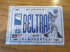 2001 FLEER PLATINUM CARLOS BELTRAN NAMEPLATES 3 COLOR PATCH  /90