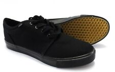 Mens Black Retro Canvas Shoes sizes 3 to 12s