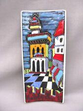 A San Marino Pottery Wall Plaque - fabulous colours - HUGO - R.S.M.