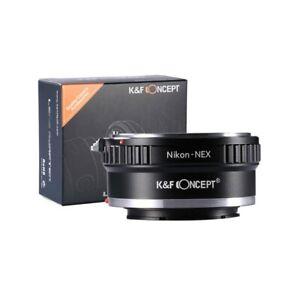 K&F Concept Mount Converter Nikon Mount Lens - Sony E Mount Camera  #KF06.068 UK