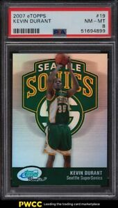 2007 eTopps Basketball Kevin Durant ROOKIE RC /1499 #19 PSA 8 NM-MT