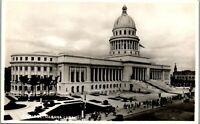 Havana Habana Cuba Capitol View  Vintage 1940 RPPC AA-008