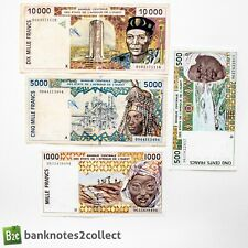 WEST AFRICAN STATES: Set of 4 West African States Franc Banknotes.