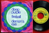 "DEEP PURPLE FIREBALL/DEMON'S EYE 1971 UNIQUE RARE EXYU 7"" PS"
