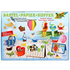 Papier Bastel Set FOLIA Bastelpapier Fotokarton Tonpapier Bastelset m Anleitung