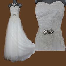 MONSOON Ivory Iris Pleated Tulle Layers Appliqued Fishtail Wedding Maxi Dress12