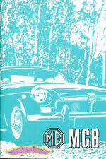 MGB OWNERS MANUAL MG BOOK 1972 DRIVERS HANDBOOK GUIDE 72 GT COUPE ROADSTER USA