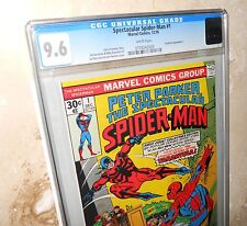 The Spectacular Spider-Man #1 1976 CGC 9.6 NM+ WHITE PAGES Bronze-Age Spidey #1