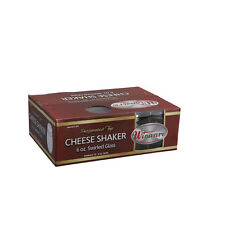 Winco G-307, 6-Ounce Glass Cheese Shaker with Perforated Stainless Steel Top, 1