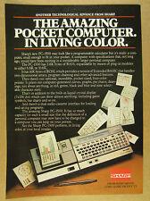1982 Sharp PC-1500 Pocket Computer & Color Printer photo vintage print Ad