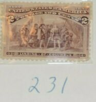 7 Columbus Stamps 231-233 and 234-237