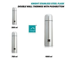 KNIGHT Stainless Steel Flask, Double-Walled Thermos Thermocafe with Push-Button