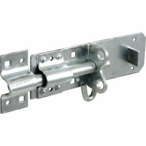 6 Inch Galvanised Brenton Slip Bolt & Fittings Zinc Plated Garden Gate Shed Lock