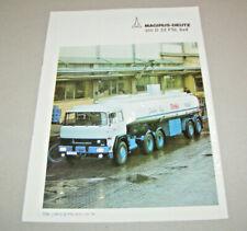 Prospekt / Broschüre LKW - Magirus-Deutz 310 D 22 FSL 6x4 - Ausgabe 1975