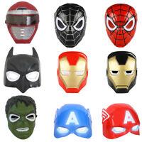 Halloween Party Children Batman Spiderman Captain America Ironman LED Mask Hot