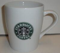 STARBUCKS COFFEE CERAMIC MUG 8 Oz 3.75'' - 2007 White Logo Tea Hot glass