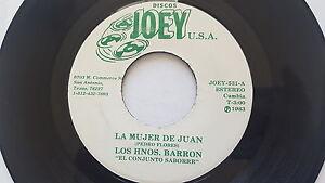 """LOS HNOS. BARRON - La Mujer De Juan / No Te Vayas Sin Mi CUMBIA BOLERO Joey 7"""""""