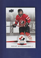 Haley Wickenheiser SP 2014-15 UD Hockey Team Canada Juniors #144