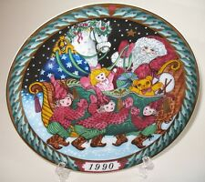 Bing & Grondahl Santa's Sleigh 1990 Collectible Holiday Plate Nm No. 0.794