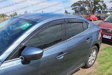 Premium Weather Shields Weathershields Window Visors for Mazda 3 sedan 13-17 (Q)