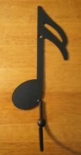 Black Single Music Note Hook Metal Wall Sculpture Music Room Home Decor New