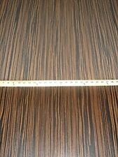 "Ebony Macassar composite wood veneer 24"" x 96"" with paper backer 1/40th"" thick"