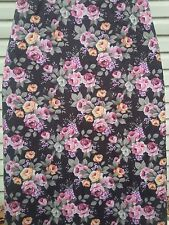 Checkys Deals Roses Black 15 X 55 Standard Replacement Ironing Board Cover & Pad