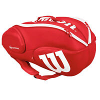 Wilson Vancouver Tennis Badminton Bag Backpack 9 Pack Red 2018 NWT WRZ-840709