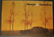 1979 1980 1981 Maserati QuattroPorte Catalog Sales Brochure Excellent Original