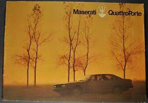 1979-1980 Maserati QuattroPorte Sedan Catalog Sales Brochure Excellent Original