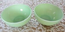 """Vintage FIRE-KING Jadeite 5"""" SOUP-CEREAL-ICE CREAM BOWLS-2PCS MINTY!"""