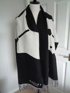 BNWT Radley Heritage Dog Black White Wide Scarf Shawl Wrap