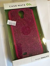CASE-MATE GLAM Protector Case in Hot Pink Sparkle for Samsung Galaxy S4 CM027003