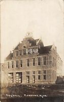 C80/ Pipestone Minnesota Mn Real Photo RPPC Postcard 1911 City Hall Building