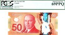 MONEY CANADA $50 DOLLARS 2012 BANK OF CANADA GEM UNC PICK#109a RARE CONDITION