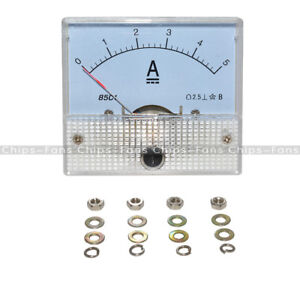CY 85C1-A  85C1 Analog Current Panel Meter DC 5A AMP Ammeter