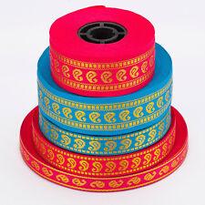 Neotrims Sari Ribbon Trim Decorative Sewing Indian Paisley Trimming 10,15,25 mm