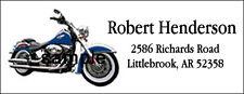 Return Address Labels#136 & Harley Davidson Motorcycle